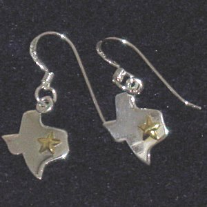 Sterling silver peace sign earrings.